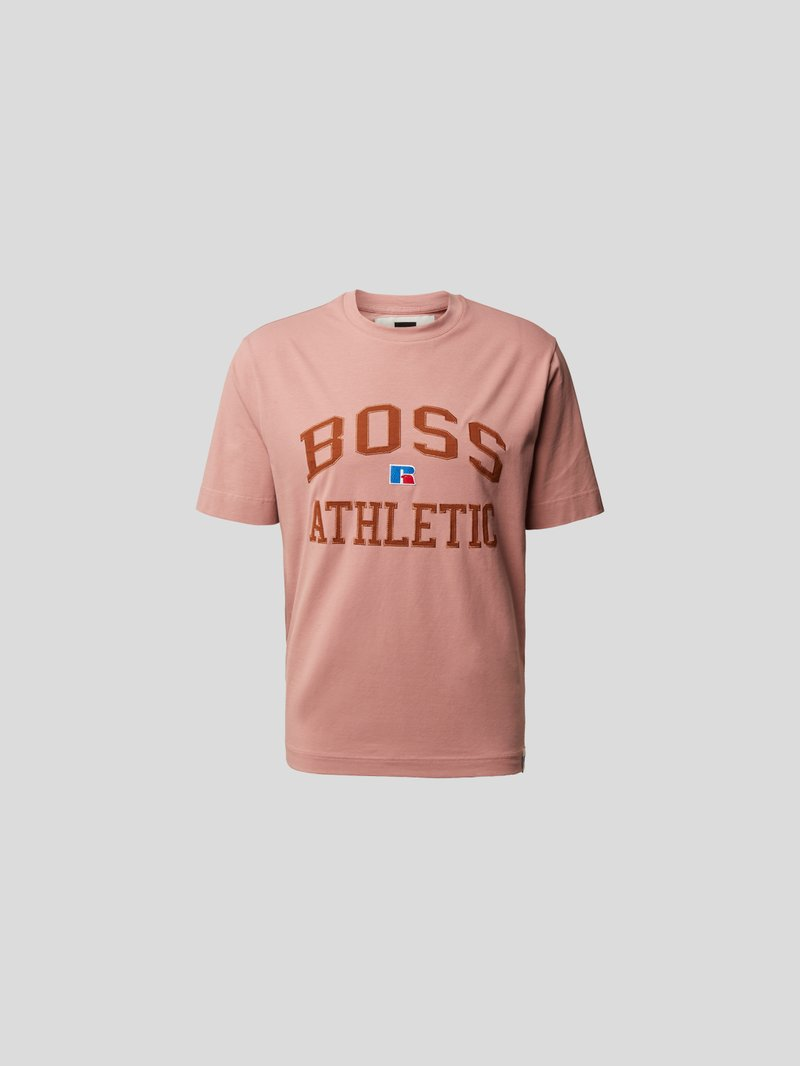 BOSS x Russell Athletic T-Shirt mit Label-Stitching Rosa - 1