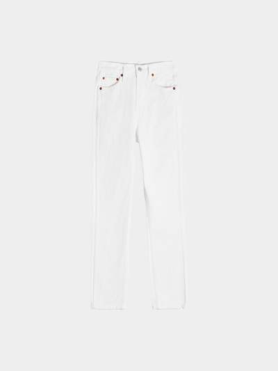 RE/DONE Straight Leg Jeans Double Needle Crop Weiß - 1