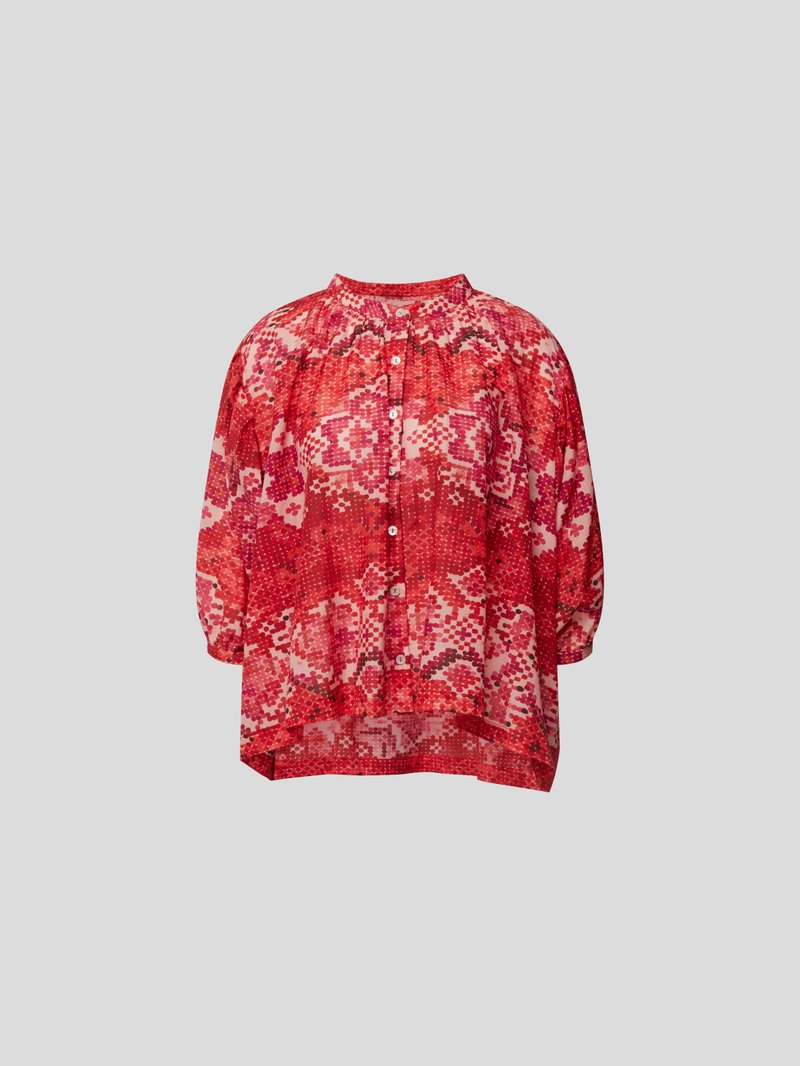 Chufy Bluse mit Allover-Muster Rot - 1