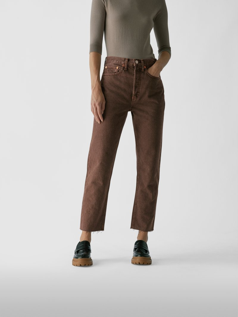 RE/DONE Straight Fit Jeans Hellbraun - 1