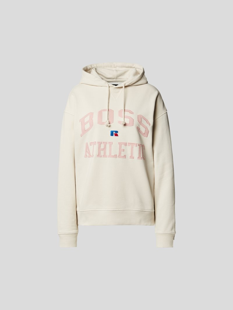 BOSS x Russell Athletic Hoodie mit Label-Stitching Beige - 1