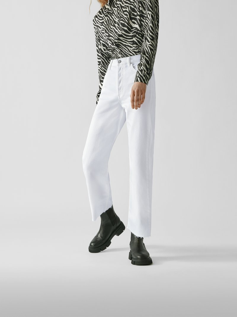 Boyish High Waist Relaxed Fit Jeans Offwhite - 1