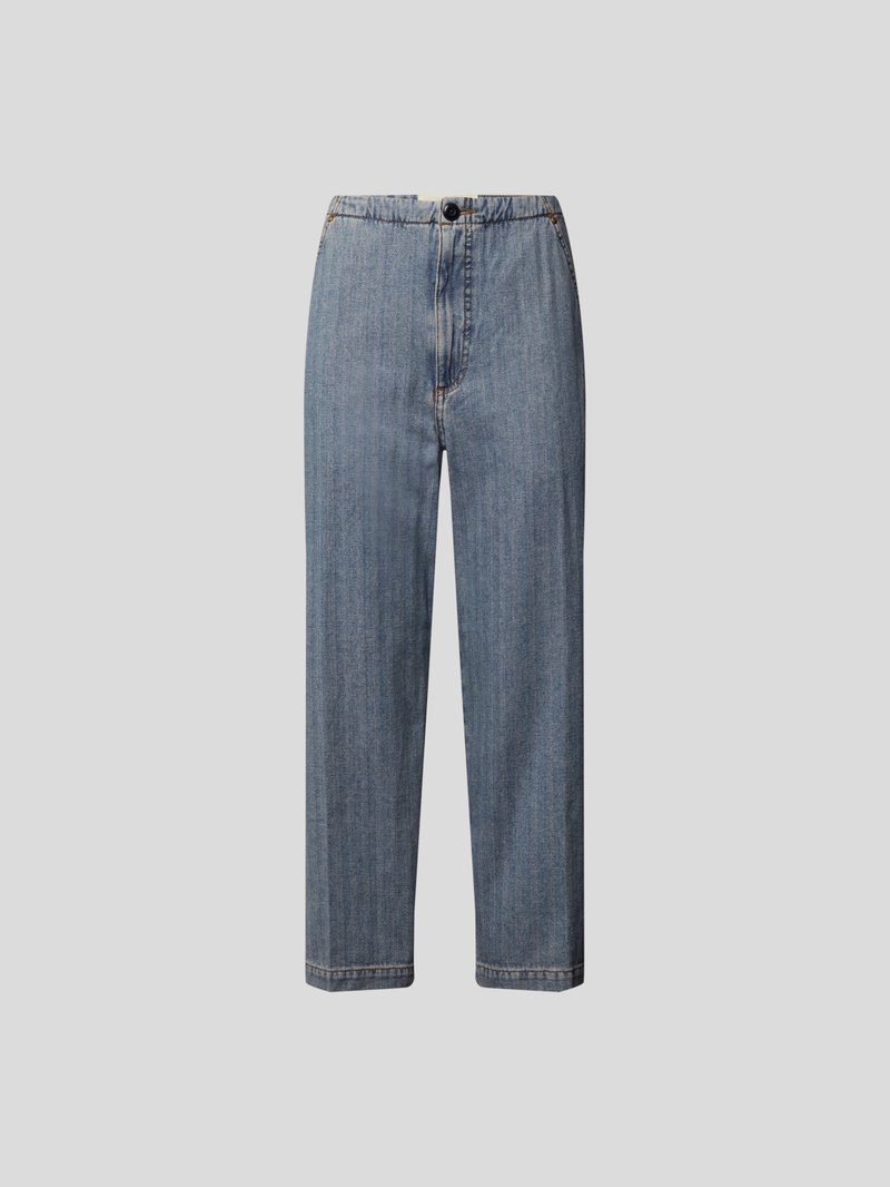 The Great Cropped Jeans Blau - 1