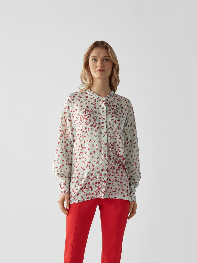 an an londree Bluse mit Allover-Muster Himmelblau - 1