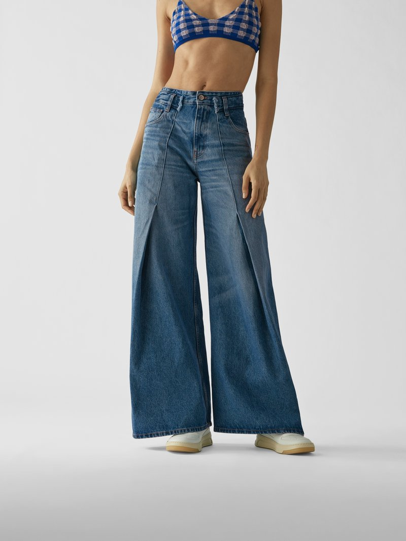 MM6 Maison Margiela High Waist Relaxed Fit Jeans Jeans - 1