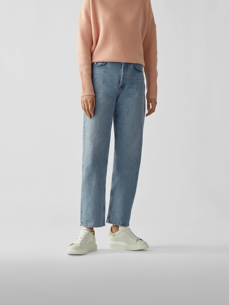 AGOLDE Mom Fit Jeans Hellblau - 1
