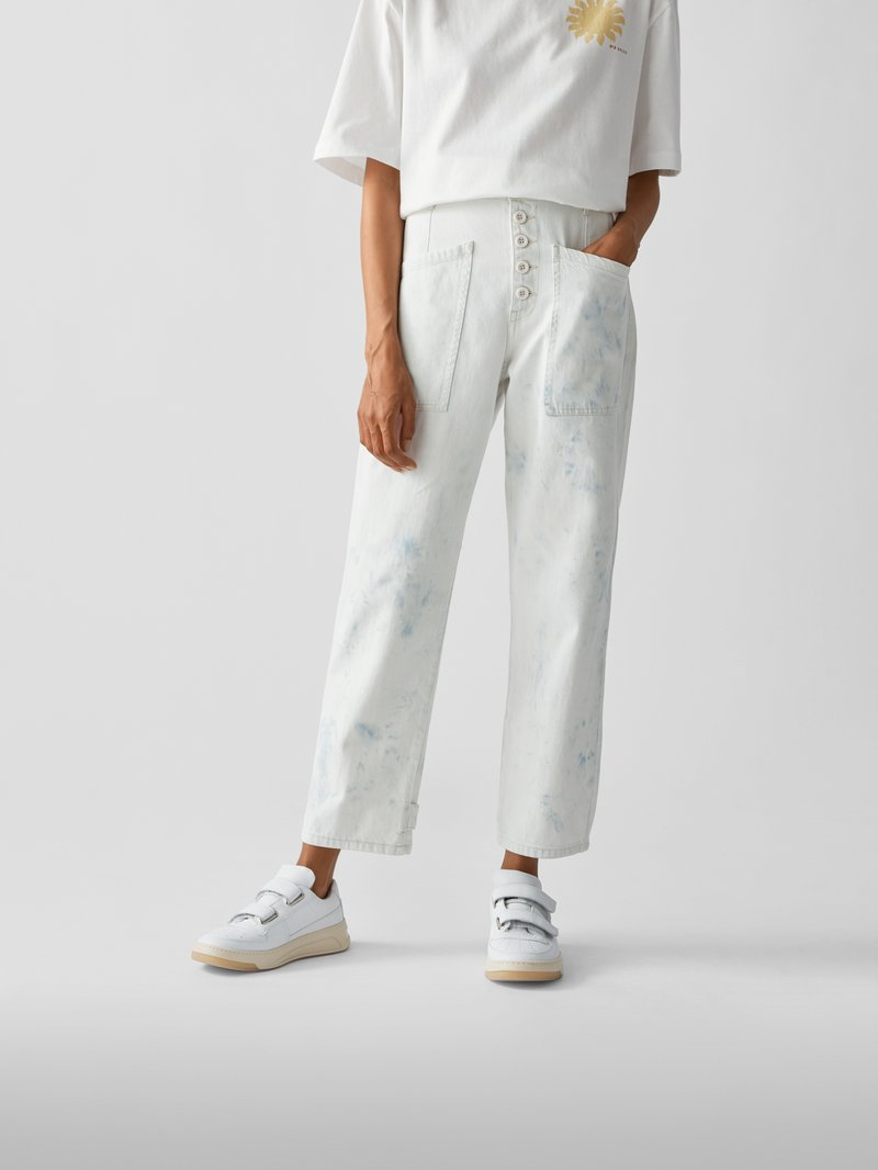 Pistola High Waist Relaxed Fit Jeans Weiß - 1