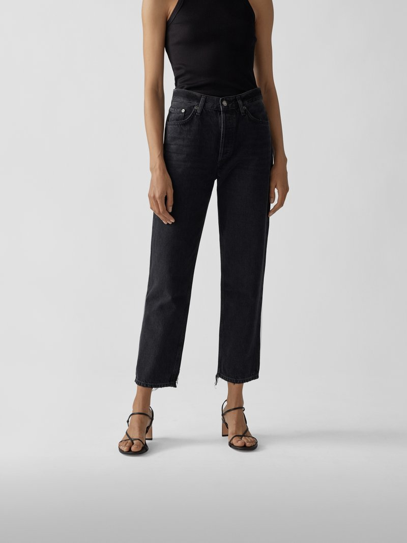 AGOLDE Straight Fit Mid Rise Jeans Schwarz - 1