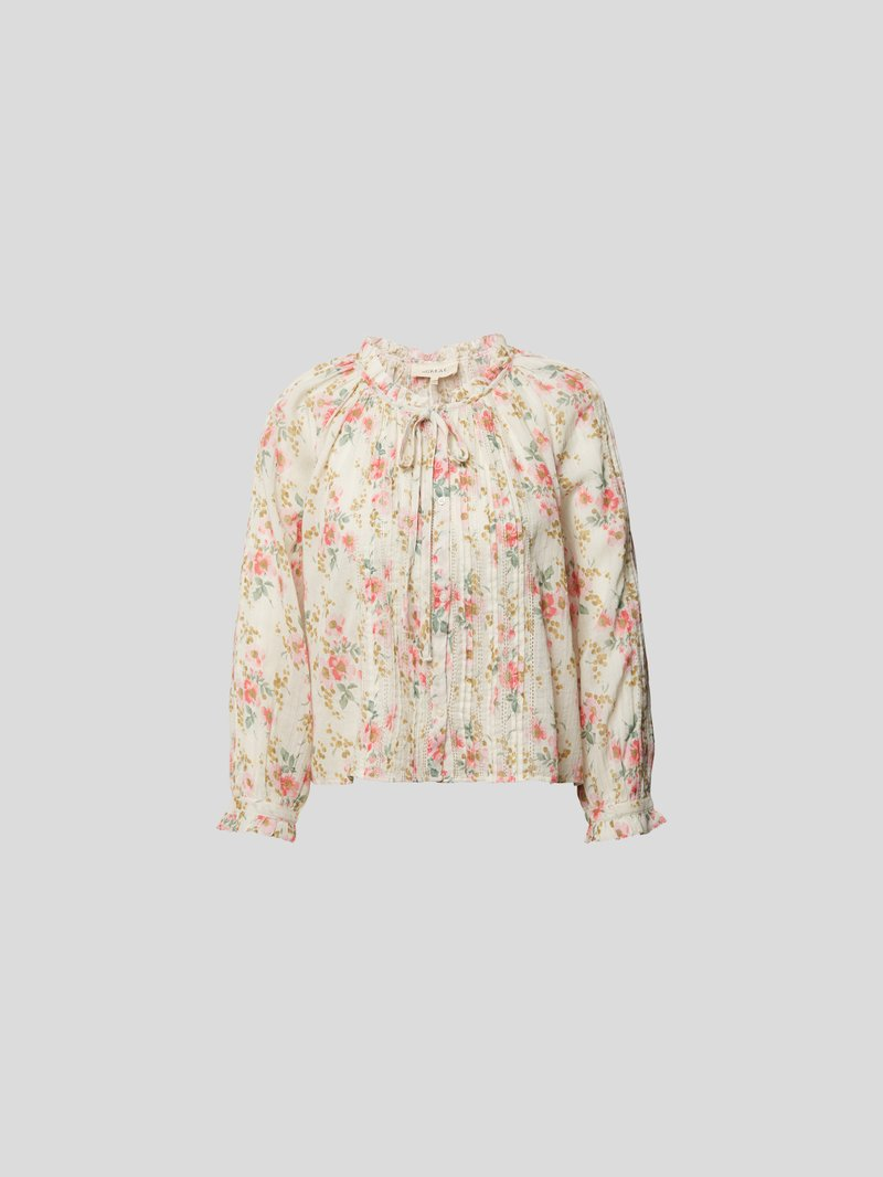 The Great Bluse mit Allover-Muster Rosa - 1
