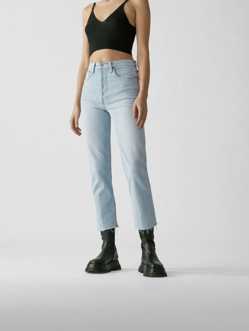 RE/DONE Straight Fit Jeans Hellblau - 1