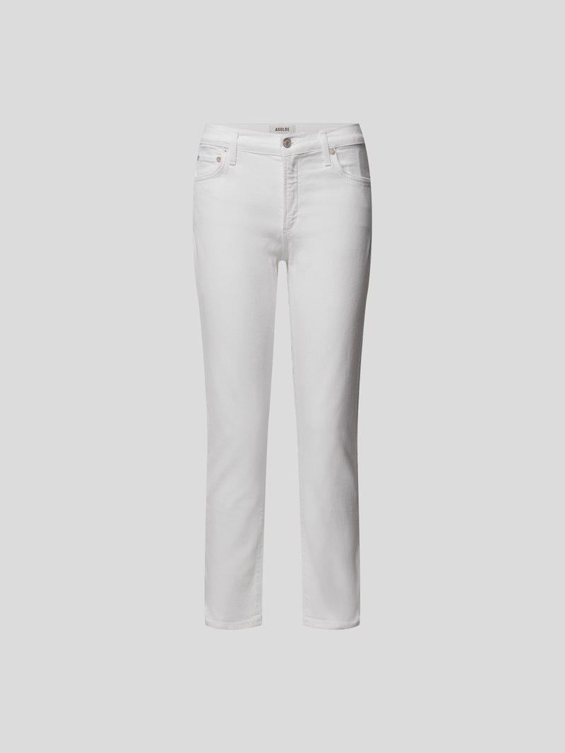AGOLDE Mid Rise Straight Fit Jeans Weiß - 1