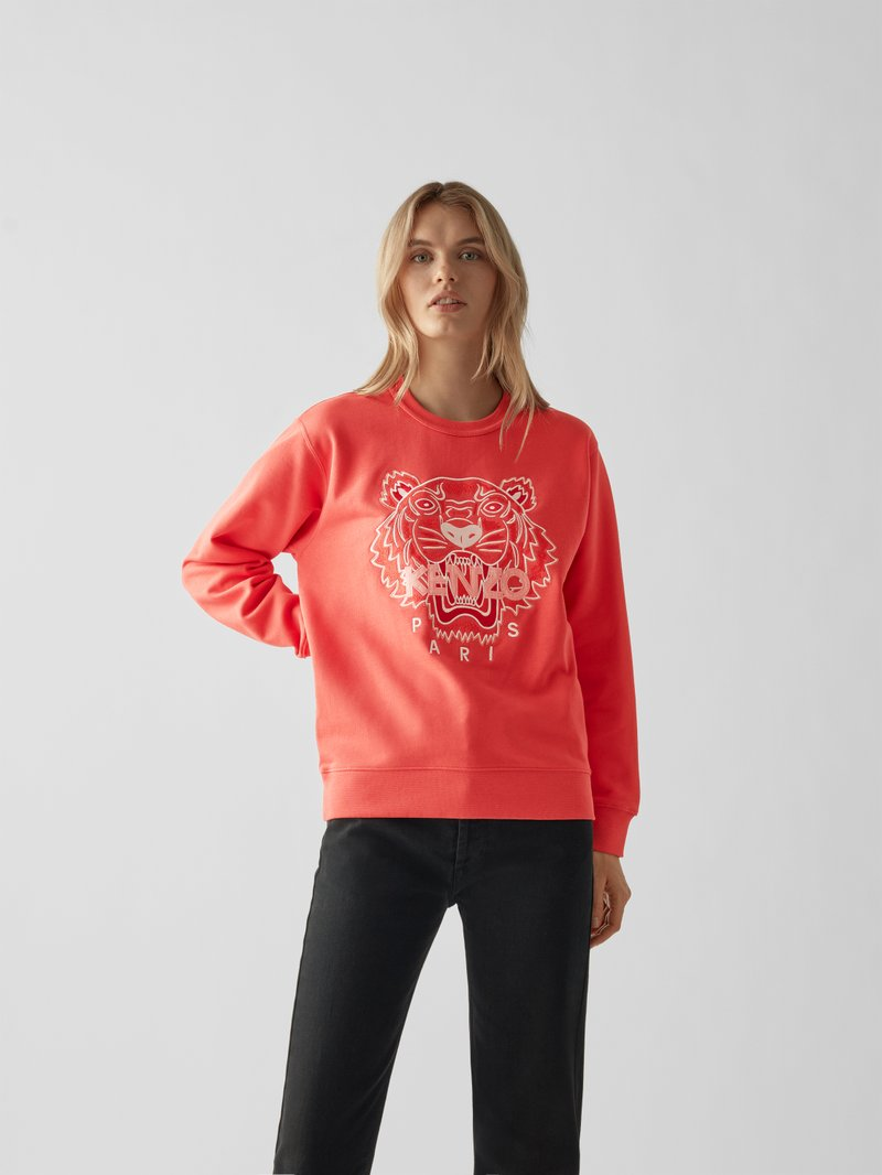 Kenzo Sweatshirt mit Label-Detail Orange - 1