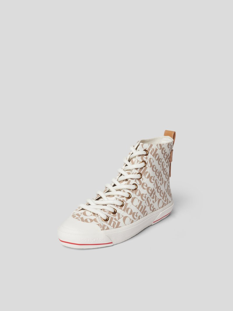 See by Chloé Sneaker mit Allover-Logo Beige - 1
