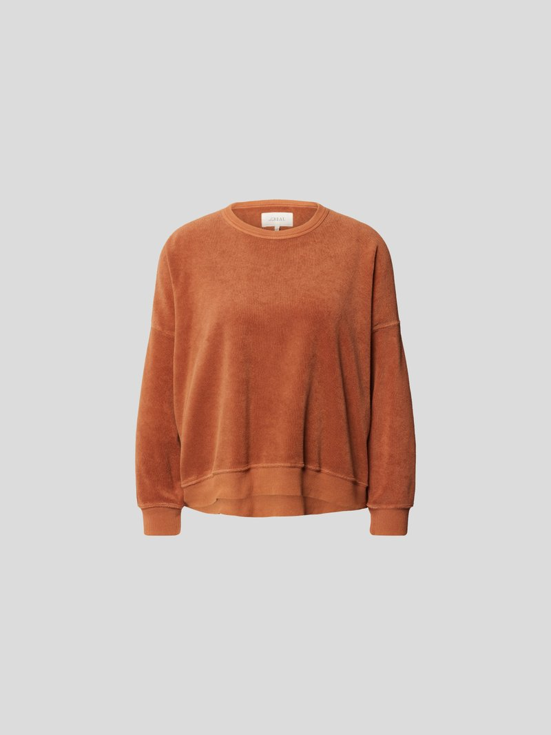 The Great Pullover aus Frottee Braun - 1