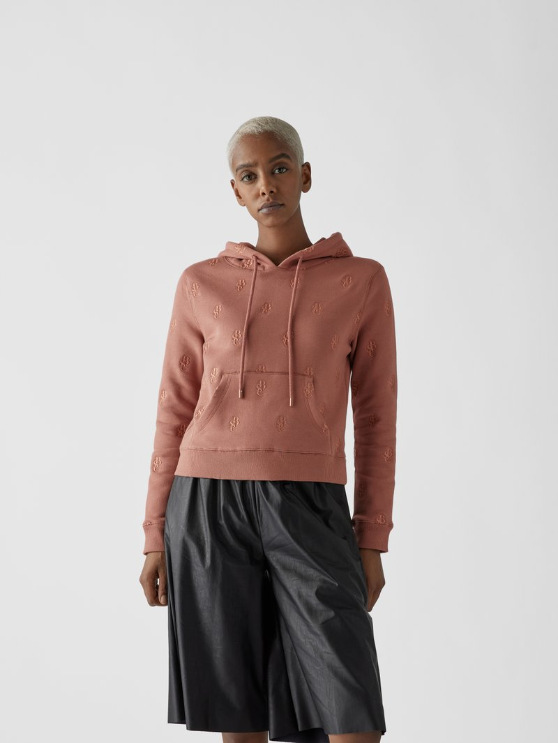 See by Chloé Hoodie mit Label-Stitchings Rosa - 1