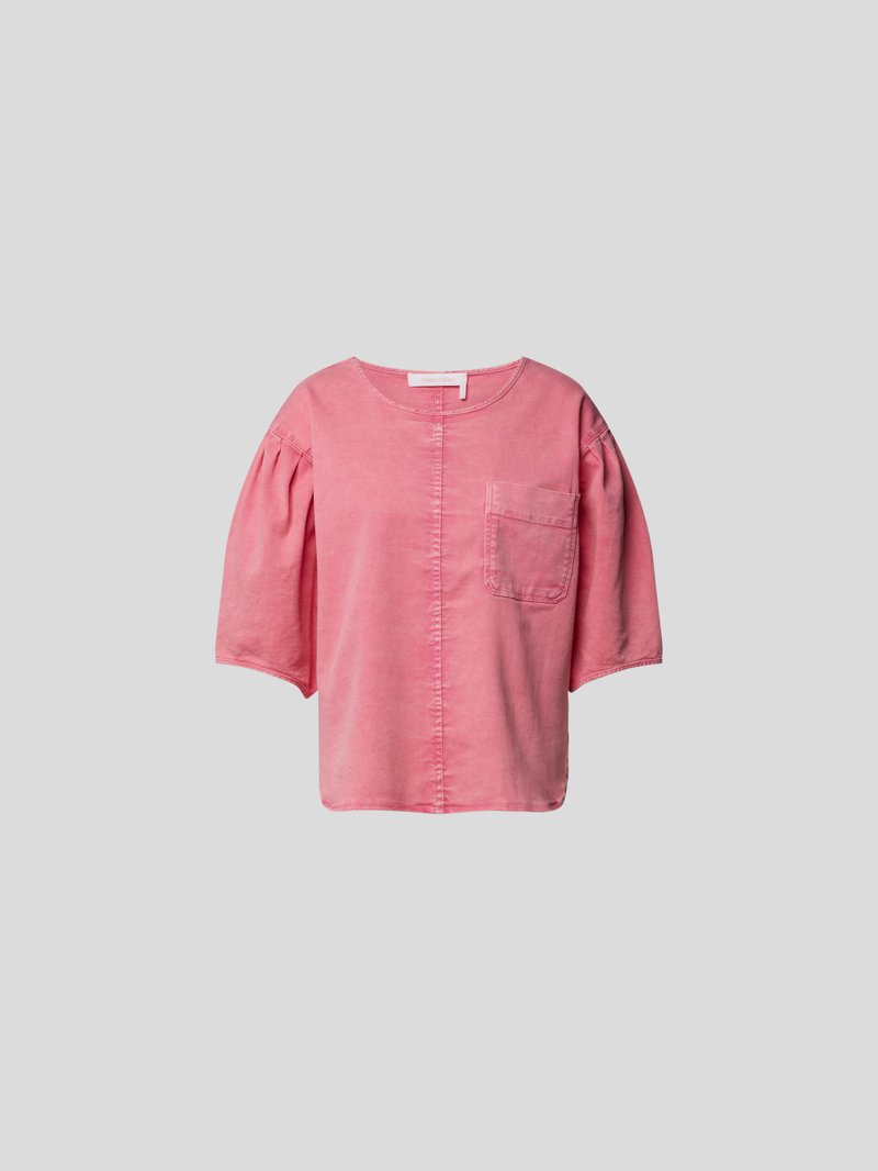 See by Chloé Bluse mit Denim-Finish Rosa - 1