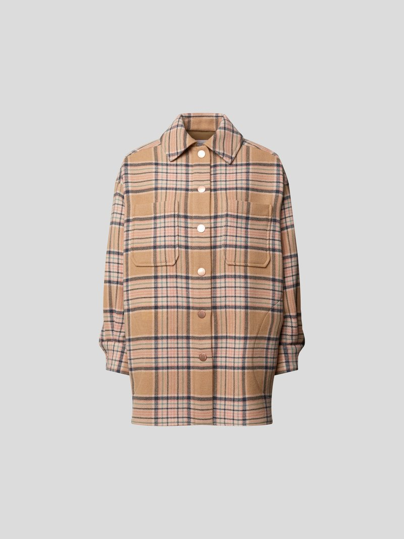 See by Chloé Jacke mit Glencheck-Muster Beige - 1