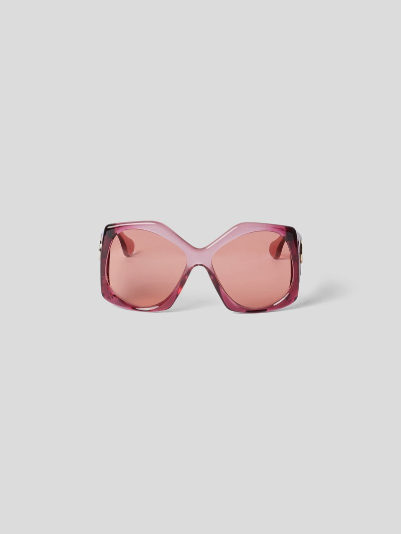 Gucci Unisex Sonnenbrille im Oversized-Look Rot - 1