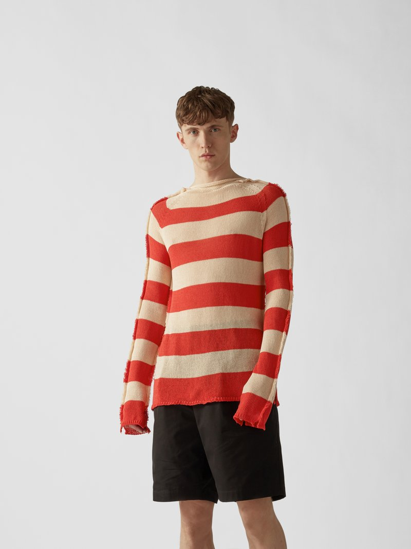 Marni Pullover im Distressed-Look Rot - 1