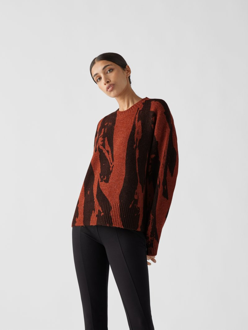 Kenzo Pullover mit Allover-Muster Rostrot - 1
