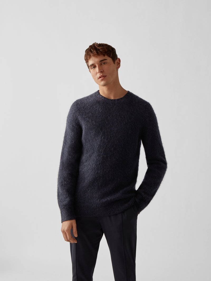 Helmut Lang Pullover mit Wolle Blau - 1