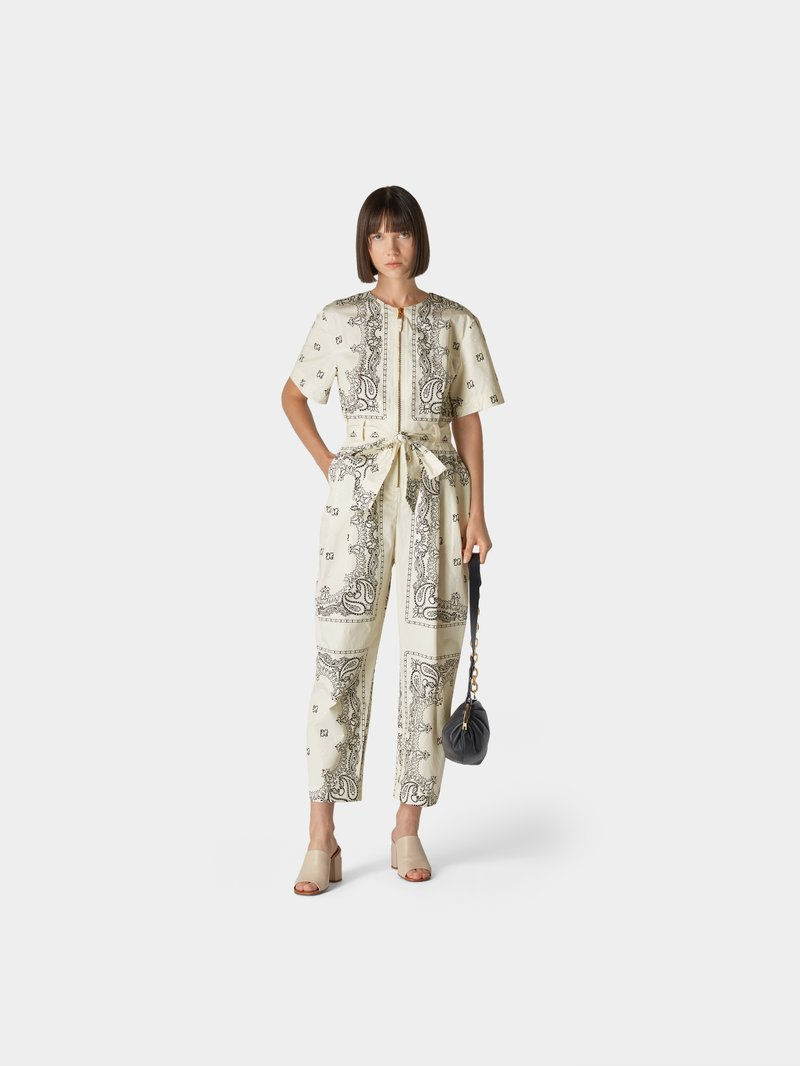 Tory Burch Jumpsuit mit Allover-Muster in Weiß - 1