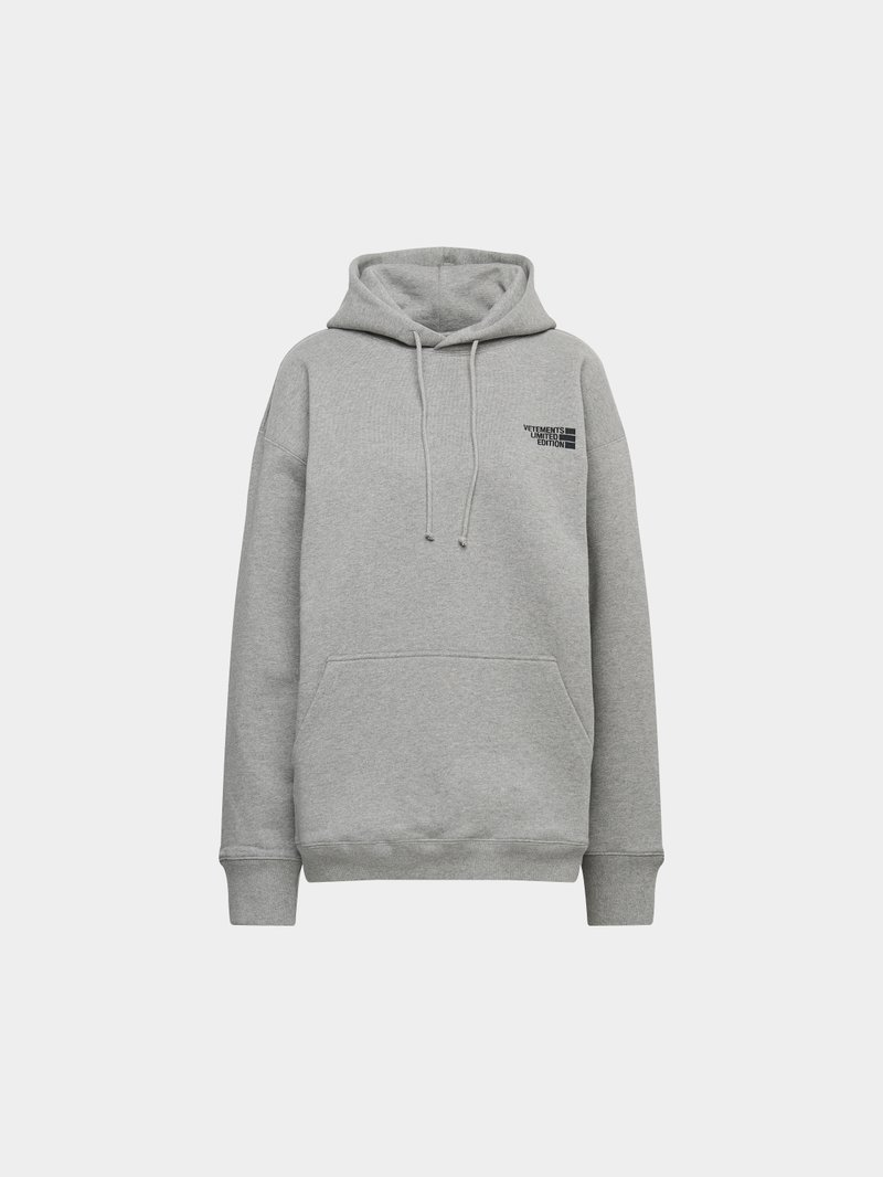 VETEMENTS Hoodie mit Logo-Applikation Grau - 1