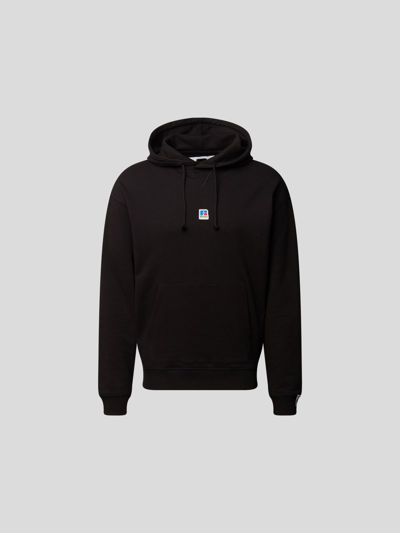 BOSS x Russell Athletic Hoodie mit Label-Patch Schwarz - 1