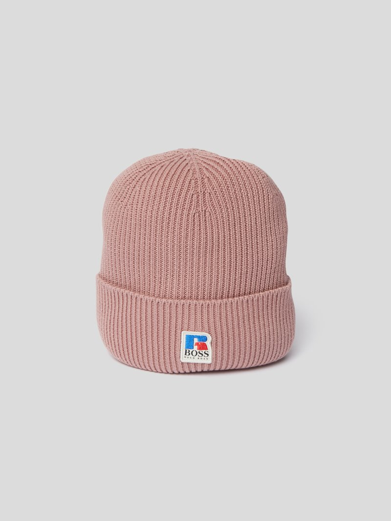 BOSS x Russell Athletic Mütze mit Logo-Patch Pink - 1