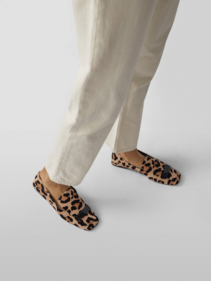 Sergio Rossi Penny-Loafer mit Animal-Print in Beige - 1