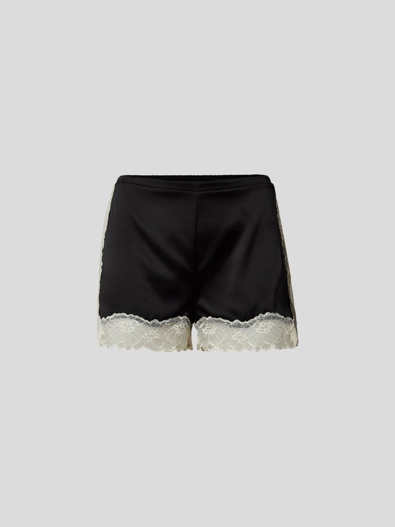 Stella Mc Cartney Seiden-Pyjama-Shorts Schwarz - 1
