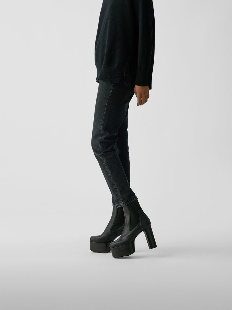 Rick Owens Chelsea Boots mit Plateausohle in Schwarz - 1