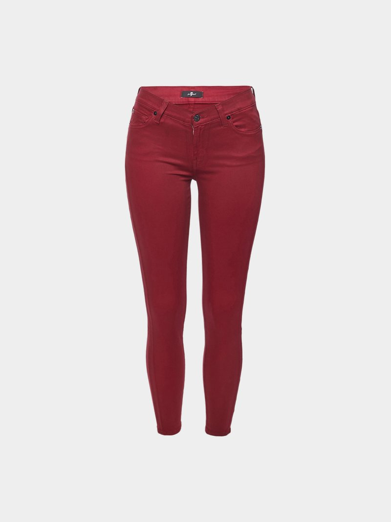 7 for all Mankind The Skinny Crop Pants Rot - 1