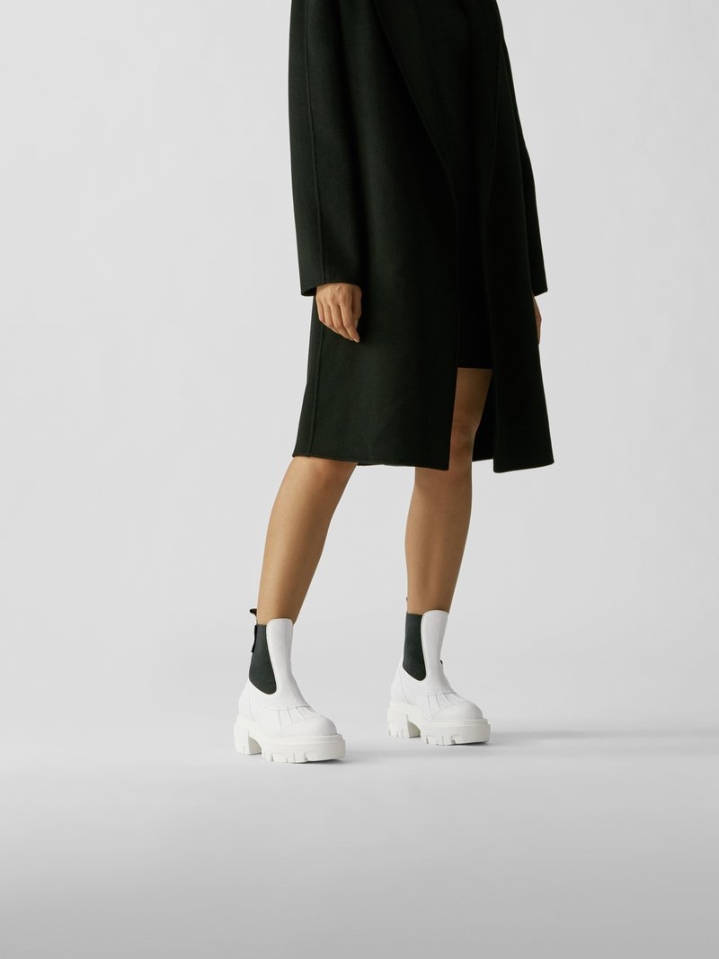 MSGM Chelsea Boots mit Plateausohle in Weiß - 1