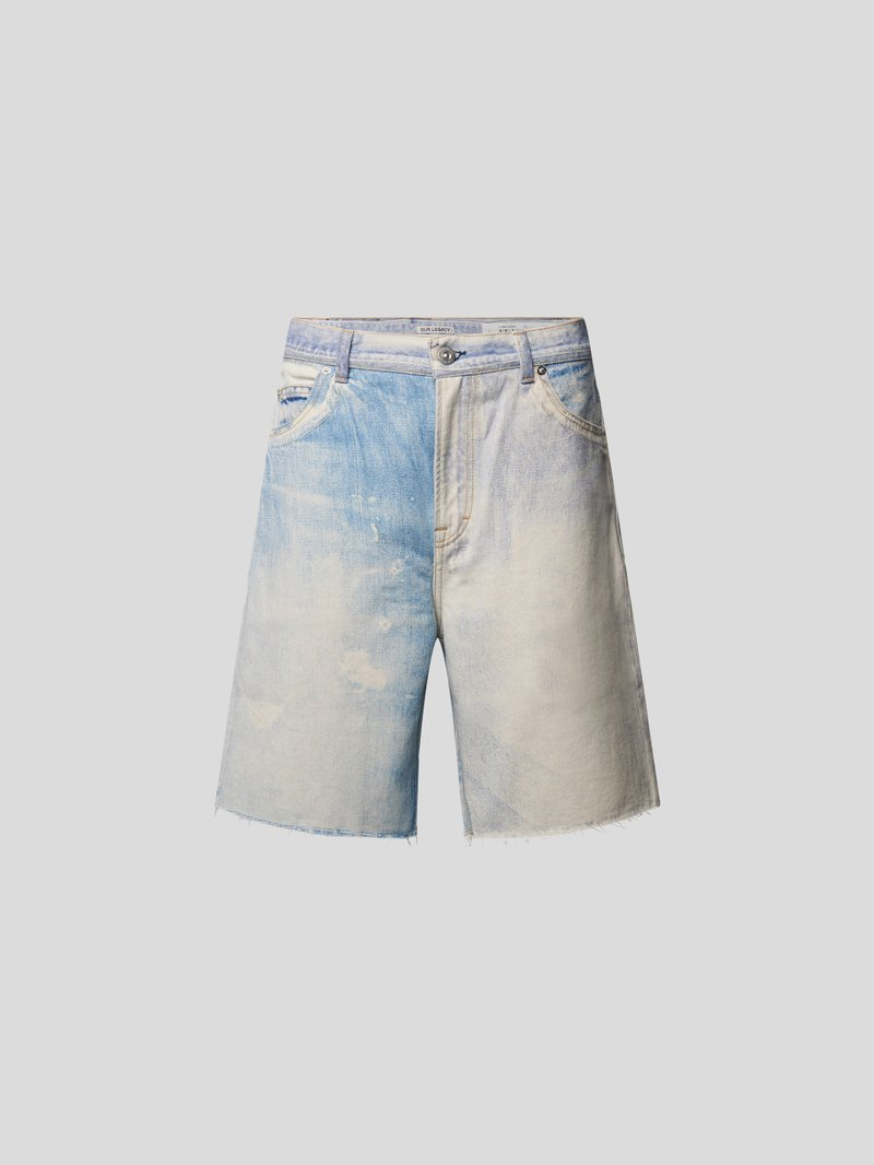Our Legacy Jeansshorts im Distressed-Look Blau - 1