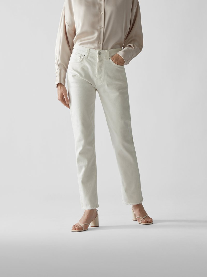 Christopher Kane Straight Fit Jeans Offwhite - 1
