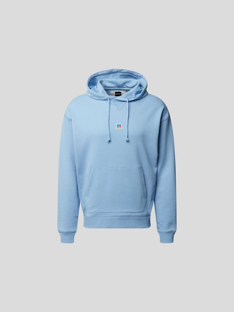 BOSS x Russell Athletic Hoodie mit Label-Patch Blau - 1