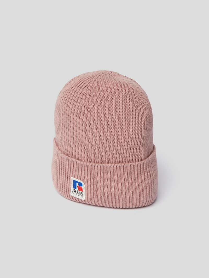 BOSS x Russell Athletic Mütze mit Logo-Patch Rosa - 1