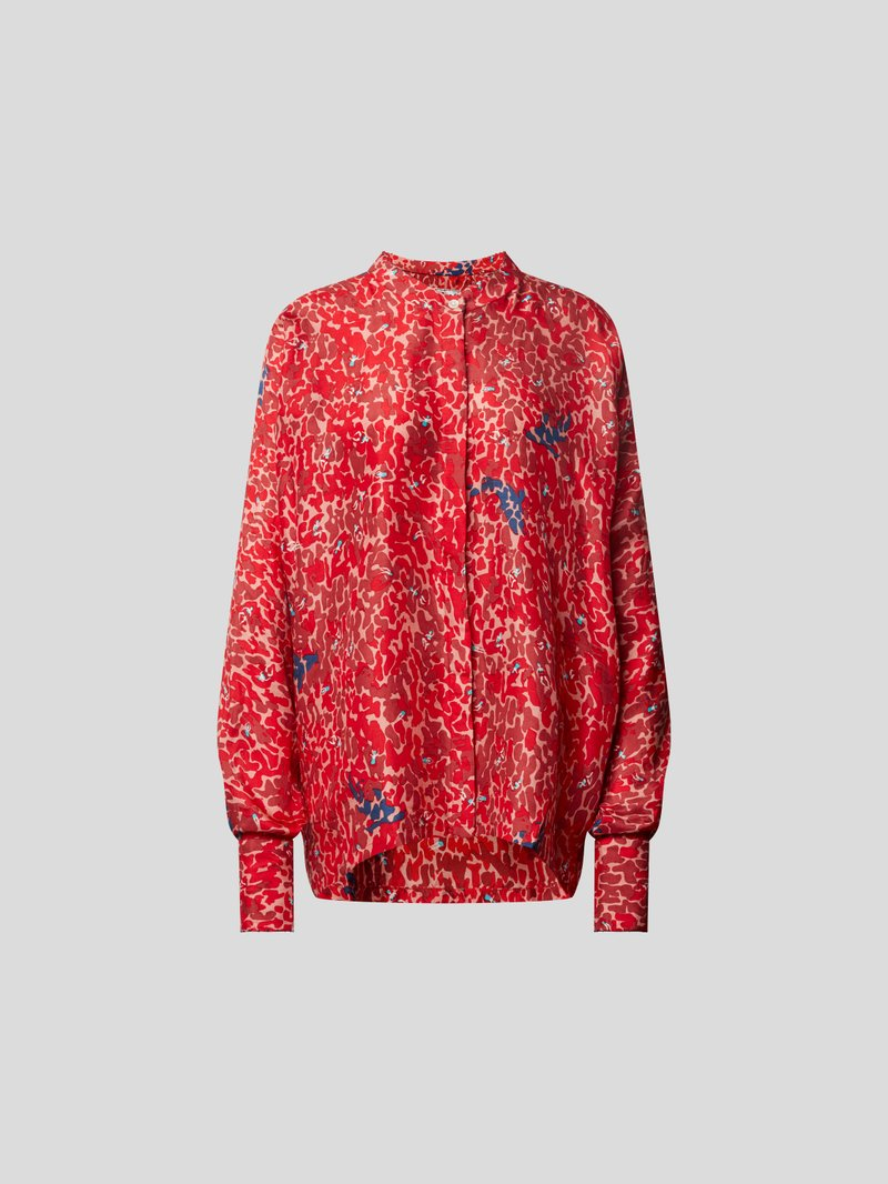 an an londree Bluse mit Allover-Muster Rot - 1