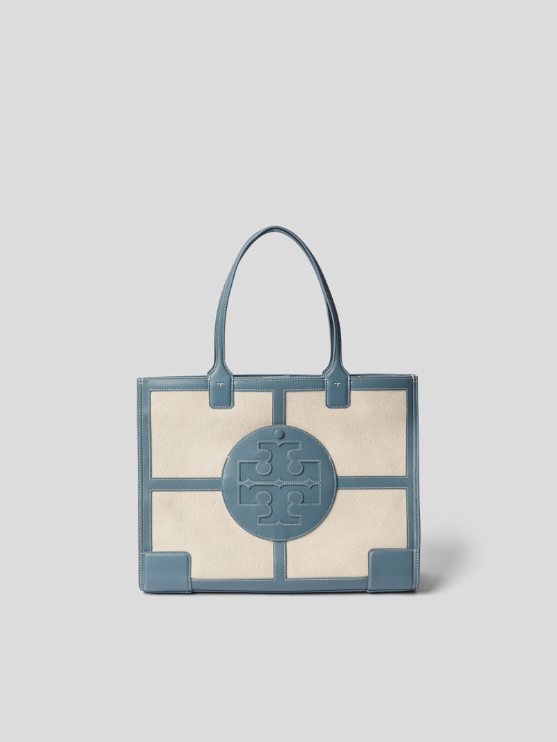 Tory Burch Shopper mit Label-Patch Blau - 1