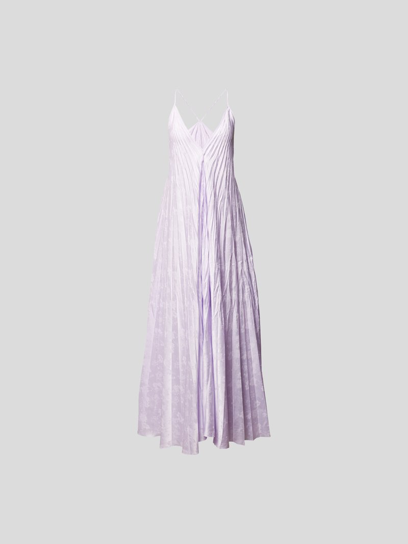 Forte Forte Maxikleid mit Allover-Muster Lila - 1
