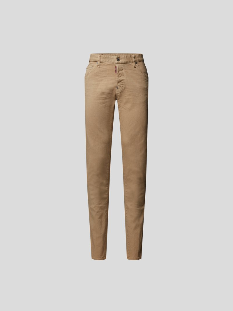 Dsquared2 Mid Rise Jeans im Straight Fit Beige - 1