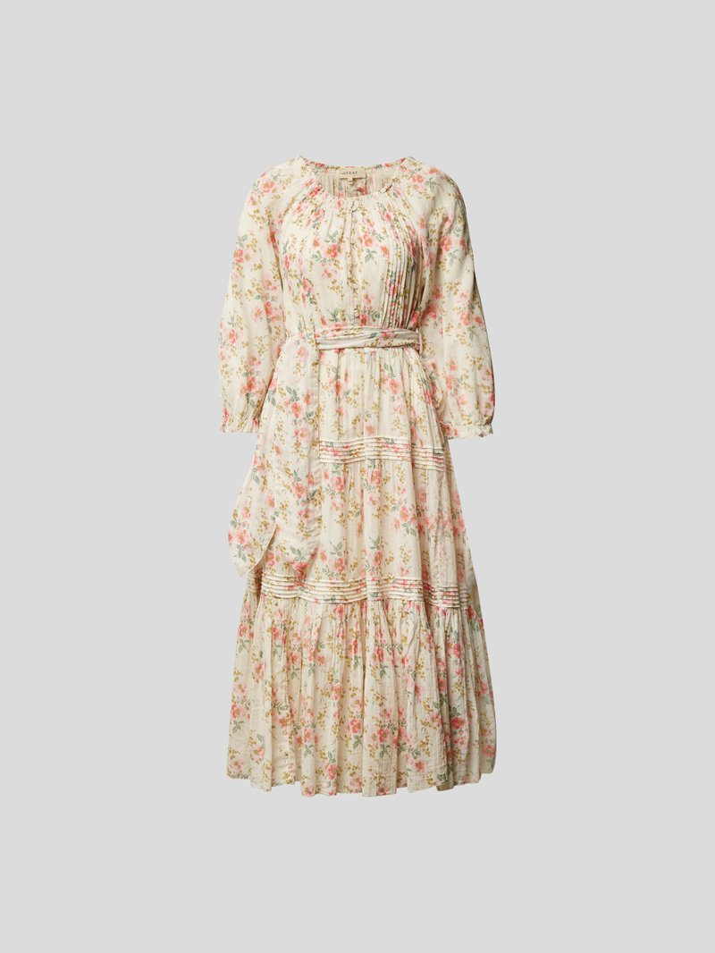 The Great Midikleid mit Allover-Muster Rosa - 1