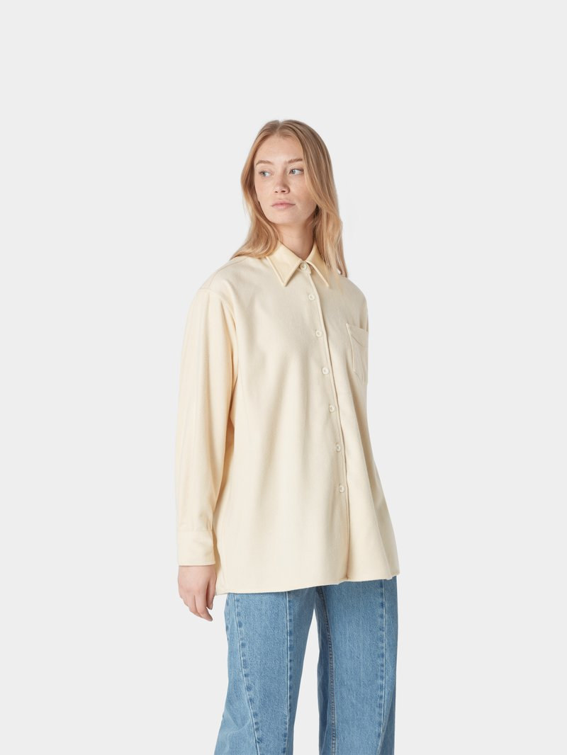 Our Legacy Bluse aus Wolle Offwhite - 1
