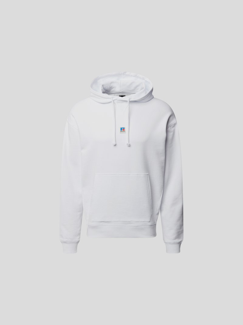 BOSS x Russell Athletic Hoodie mit Label-Patch Weiß - 1