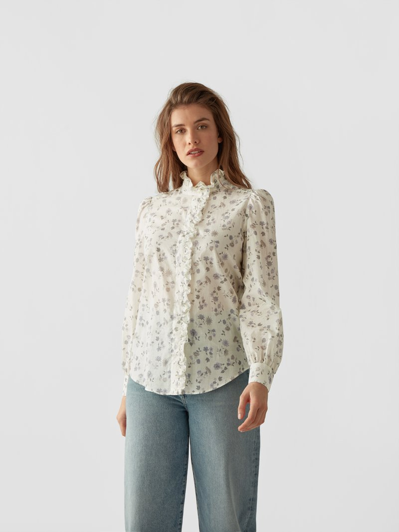 See by Chloé Bluse mit Allover-Muster Weiß - 1