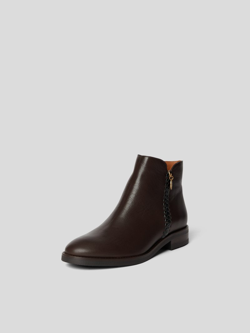 See by Chloé Ankle Boots mit Ziernaht Braun - 1