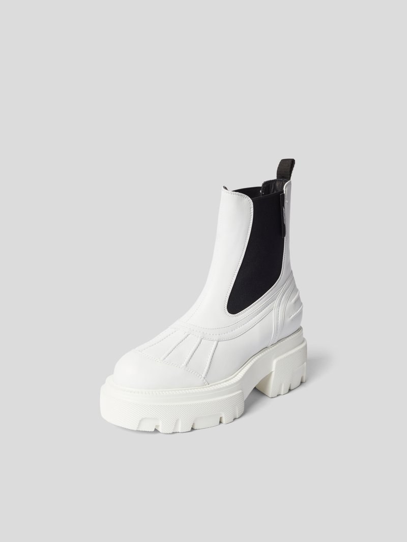 MSGM Chelsea Boots mit Plateausohle Weiß - 1