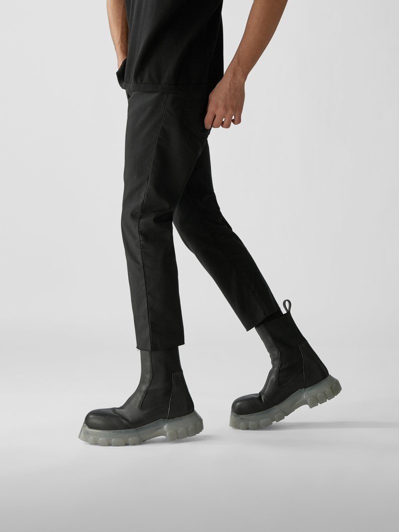 Rick Owens Chelsea Boots mit Plateausohle in Grau - 1