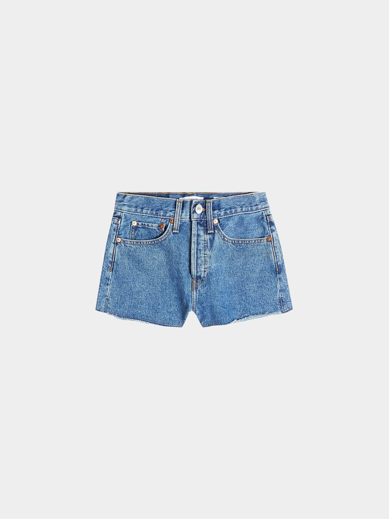 RE/DONE Jeans-Shorts The Short Blau - 1